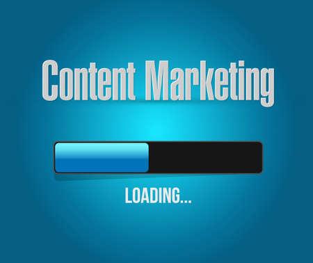 article marketing: content marketing loading bar sign concept illustration design graphic Illustration