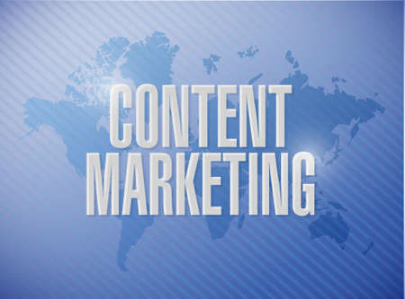 article writing: content marketing world map sign concept illustration design graphic