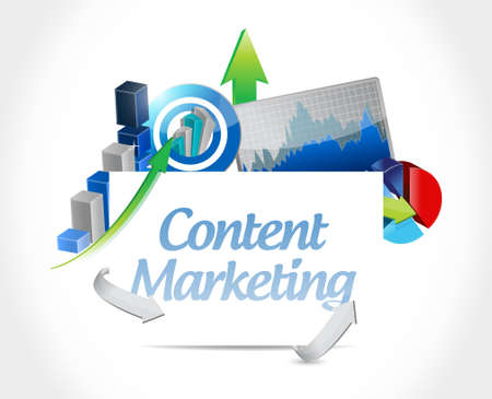 content marketing business chart sign concept illustration design graphic Illustration