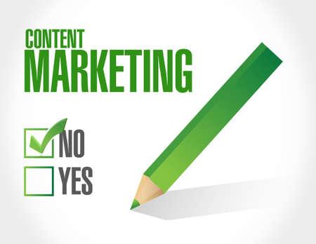 internet mark: no content marketing approval sign concept illustration design graphic
