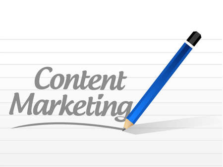 content writing: content marketing message sign concept illustration design graphic