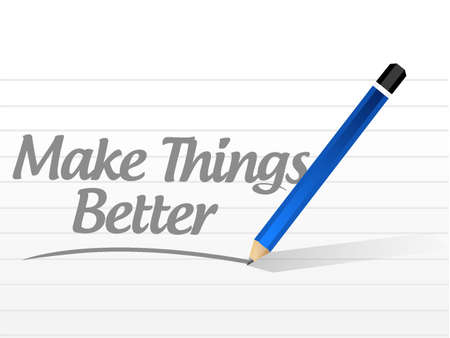 better: Make Things Better message sign concept illustration design graphic