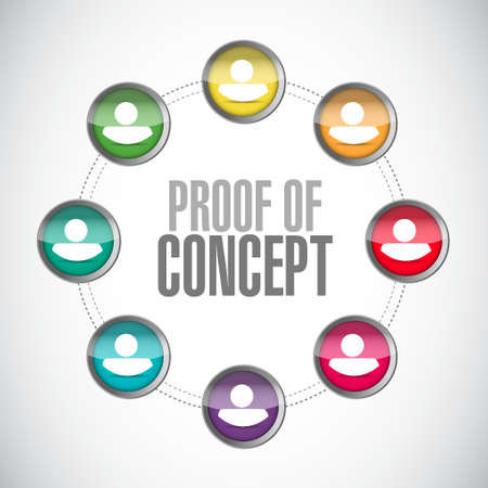 verifying: proof of concept people diagram sign concept illustration design graphic Illustration