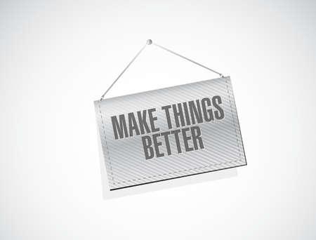 hanging banner: Make Things Better hanging banner sign concept illustration design graphic Illustration