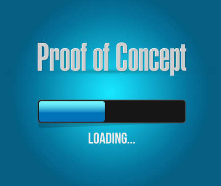 verifying: proof of concept loading bar sign concept illustration design graphic