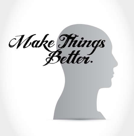 better: Make Things Better brain message sign concept illustration design graphic