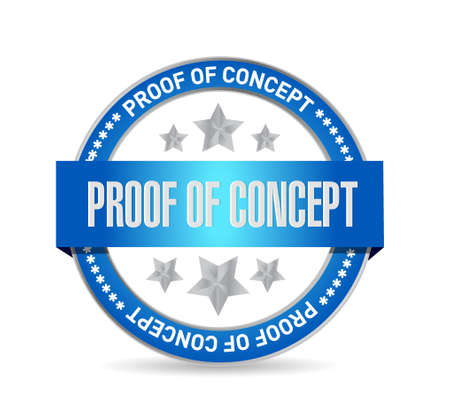 proof of concept seal sign concept illustration design graphic
