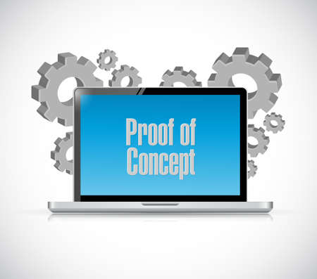 verifying: proof of concept computer sign concept illustration design graphic Illustration