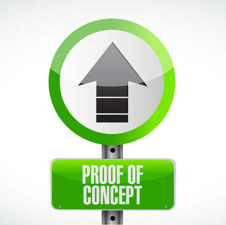 confirm: proof of concept road sign concept illustration design graphic