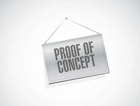 confirm: proof of concept banner sign concept illustration design graphic Illustration