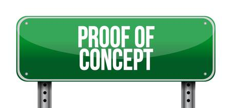 verifying: proof of concept horizontal sign concept illustration design graphic