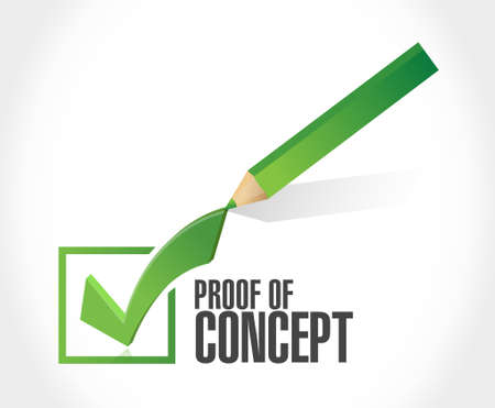 verifying: proof of concept check mark sign concept illustration design graphic
