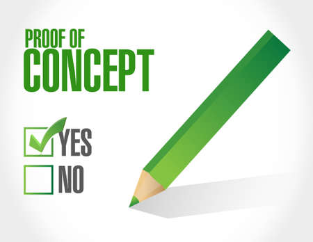 verifying: proof of concept approval sign concept illustration design graphic