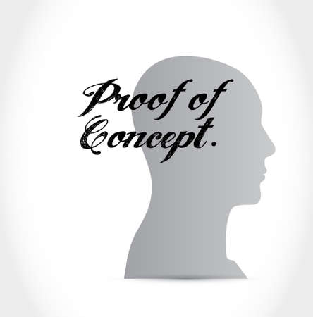 verifying: proof of concept thinking brain sign concept illustration design graphic Illustration