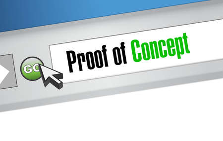 clarification: proof of concept website sign concept illustration design graphic