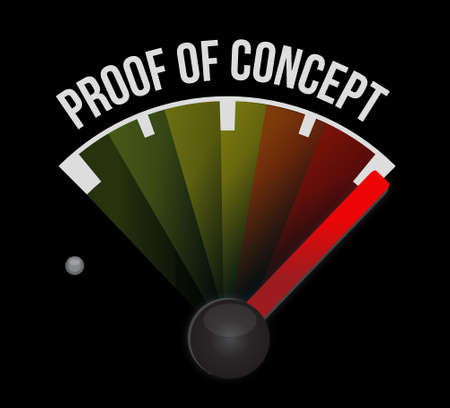 inspected: proof of concept meter sign concept illustration design graphic