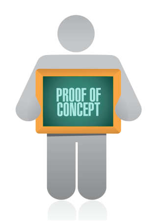 confirm: proof of concept sign concept illustration design graphic