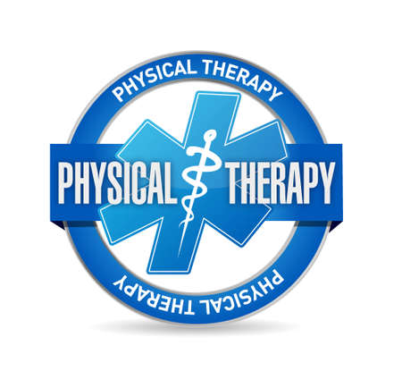 massage therapist: physical therapy medical seal isolated sign illustration design graphic