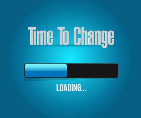 Czas, aby zmienić znak bar ładowania samodzielnie koncepcji ilustracji projekt graficzny Ilustracje wektorowe