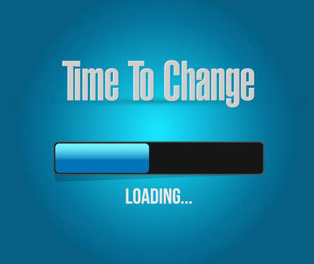 tijd om loading bar teken geïsoleerd concept illustratie grafisch veranderen Vector Illustratie