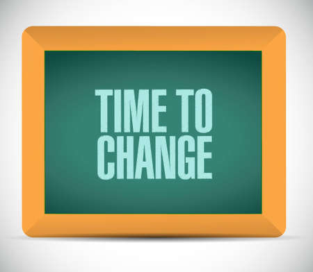 progression: time to change chalkboard sign isolated concept illustration design graphic