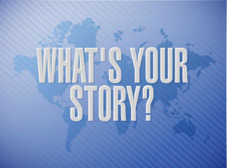 inclination: whats your story world message sign concept illustration design graphic Illustration