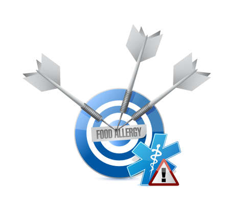 cordon: food allergy target sign concept illustration concept design graphic