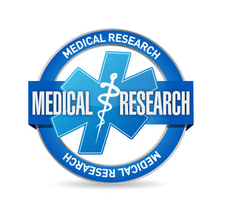 investigate: Medical research seal isolated sign illustration design graphic Illustration