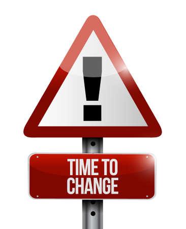progression: time to change warning road sign illustration design graphic