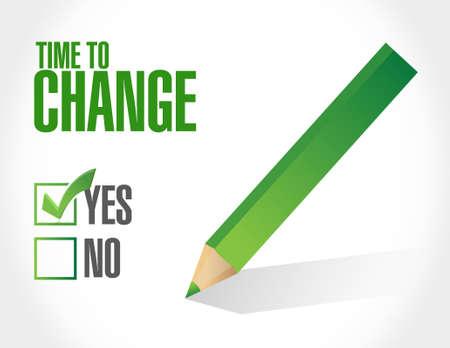 tiempo de cambiar su aprobación ilustración de la muestra de diseño gráfico