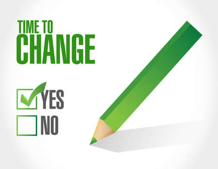 time to change approval sign illustration design graphic