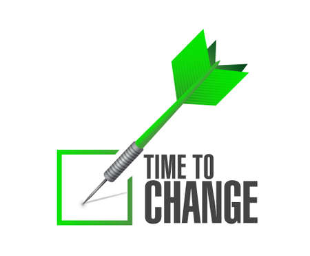 switch: time to change check dart sign isolated concept illustration design graphic Illustration