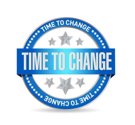progression: time to change seal sign isolated concept illustration design graphic