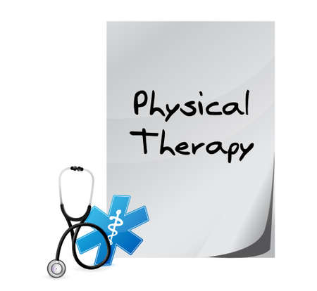 medical sign: physical therapy medical documents isolated sign illustration design graphic