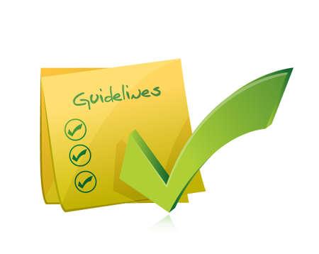 richtlijnen bericht checklist illustratie grafisch