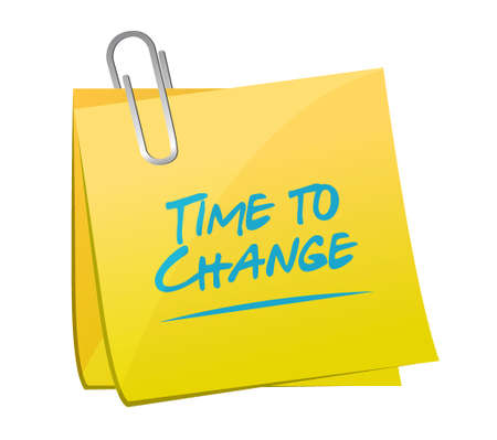 time to change memo post sign isolated concept illustration design graphic