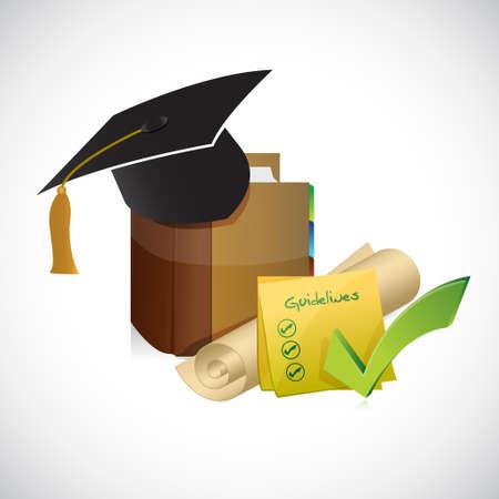 graduation guidelines check list illustration design graphic Illustration