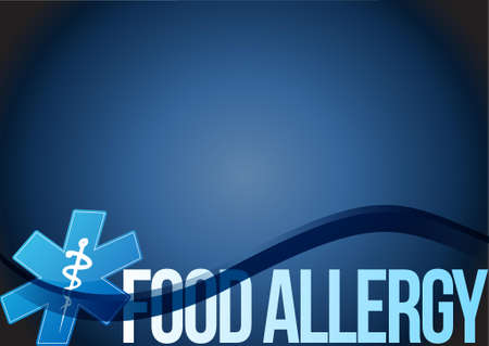 food allergy: food allergy background sign concept illustration concept design graphic
