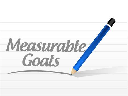 accomplishes: measurable goals message sign concept illustration design graphic Illustration