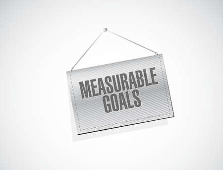 accomplishments: measurable goals banner sign concept illustration design graphic