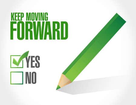 forwards: keep moving forward approval sign concept illustration design graphic