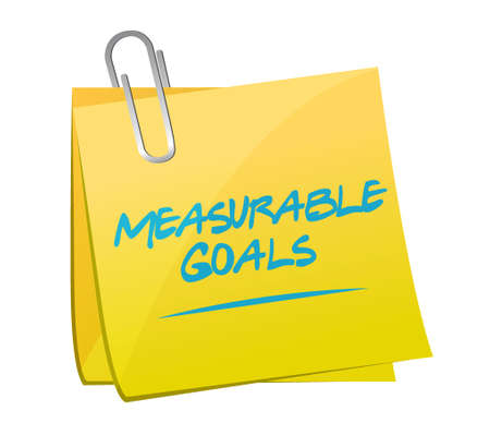 memo: measurable goals memo post sign concept illustration design graphic