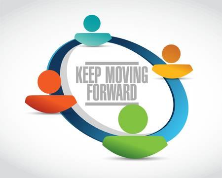 forwards: keep moving forward network sign concept illustration design graphic