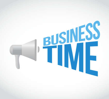 business time loudspeaker text message illustration design