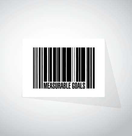 meetbare doelen barcode teken concept, illustratie, grafisch Stock Illustratie