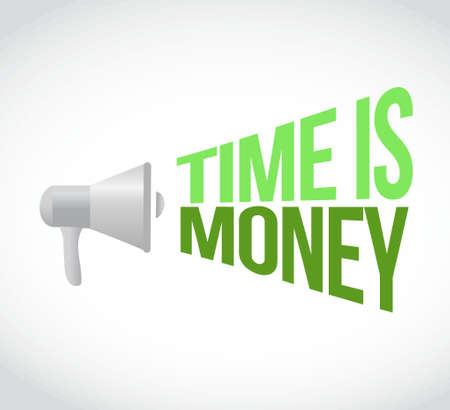time is money loudspeaker text message illustration design