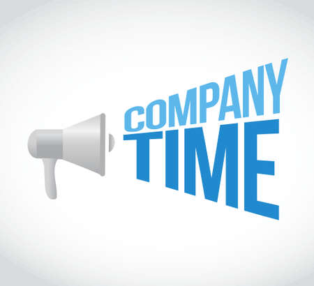 company time loudspeaker text message illustration design Ilustracja
