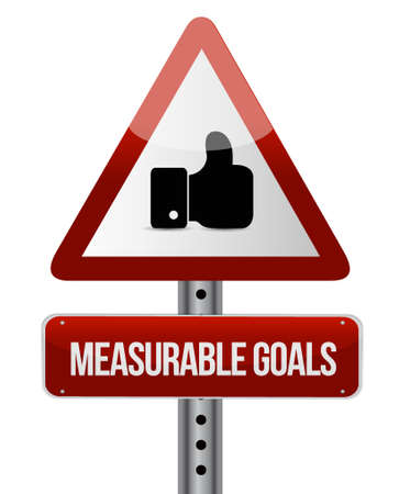 measurable: measurable goals like road sign concept illustration design graphic
