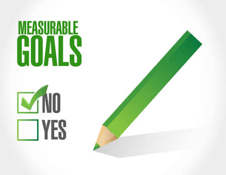 colour pencil: no measurable goals approval sign concept illustration design graphic