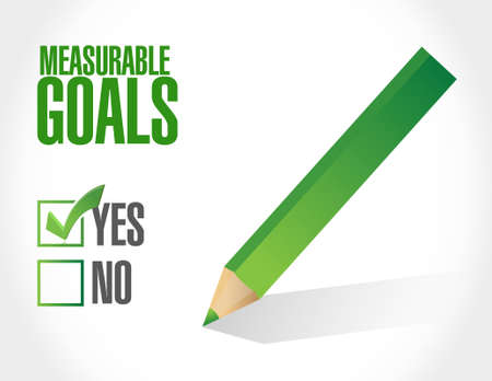 measurable: measurable goals approval sign concept illustration design graphic